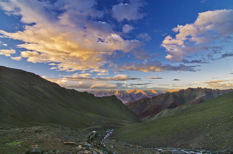 Mountains Photograph - Hemis Sunset by Aaron Bedell