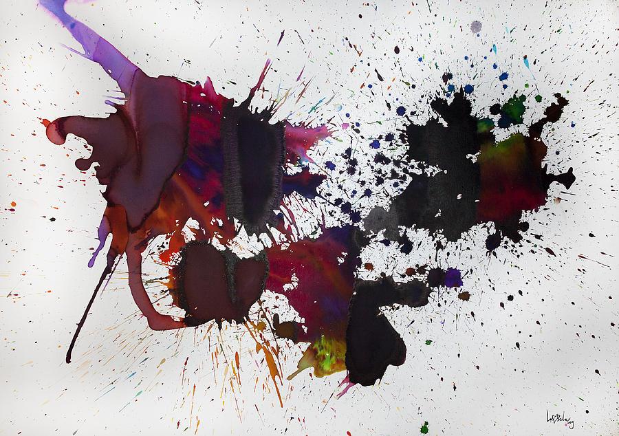 Abstract Paintings Painting - Hemisferio by Laura Benavides Lara