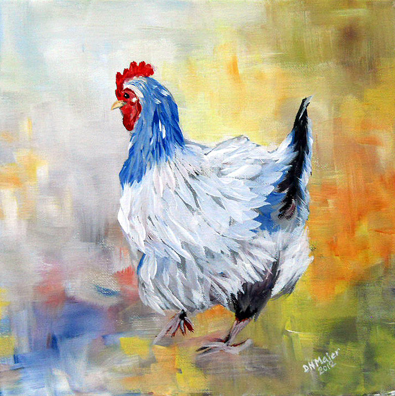 Hen Painting - Hen by Dorothy Maier