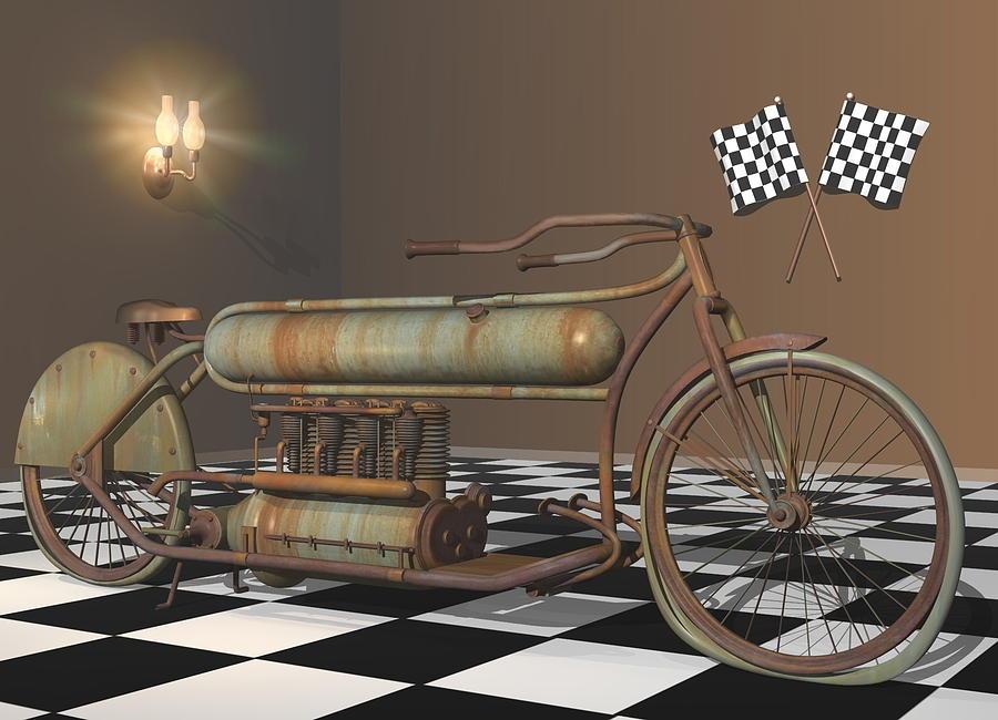 Motorcycle Digital Art - Henderson Special by Stuart Swartz