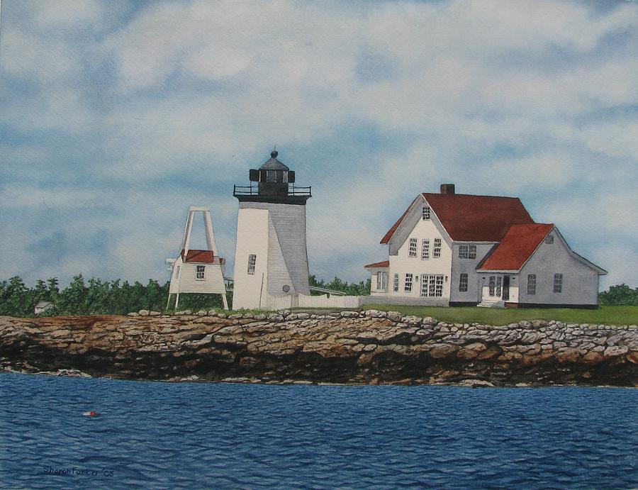 Lighthouse Painting - Hendricks Head Lighthouse by Sharon Farber