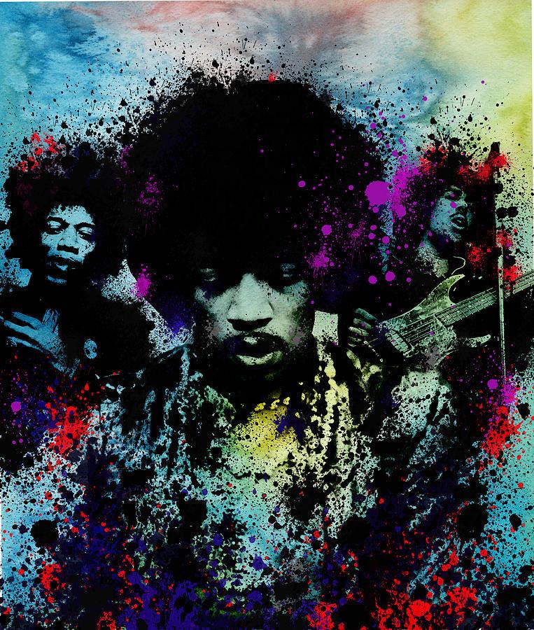 Jimi Hendrix Painting - Hendrix 4 by Bekim M