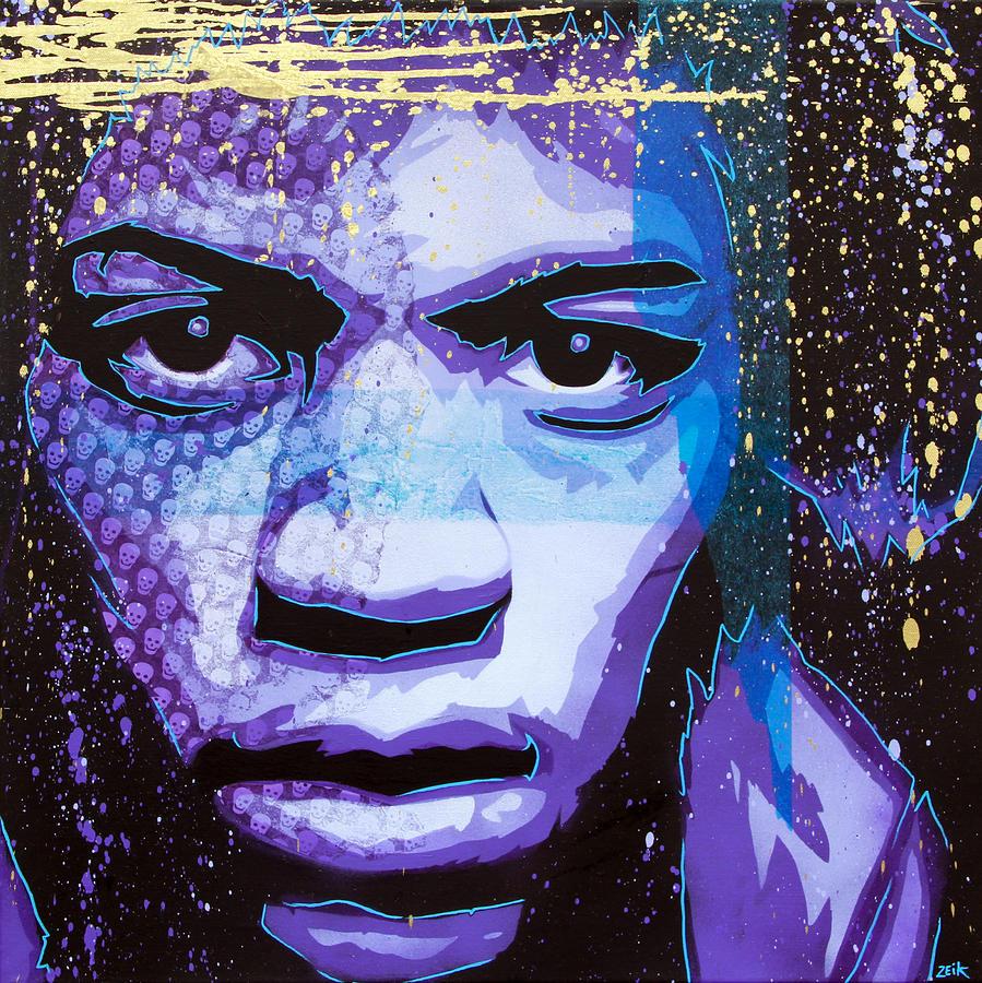 Jimi Painting - Hendrix - Eyes Of Neptune - Alternate by Bobby Zeik
