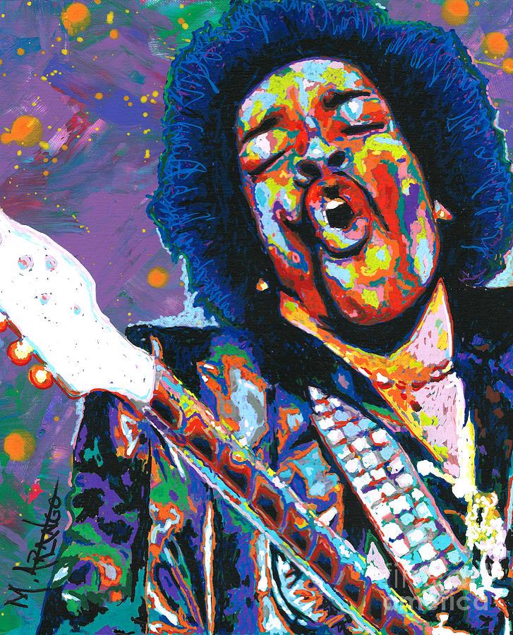 Jimi Hendrix Painting - Hendrix by Maria Arango