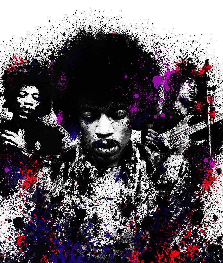Jimi Hendrix Painting - Hendrix by Bekim M