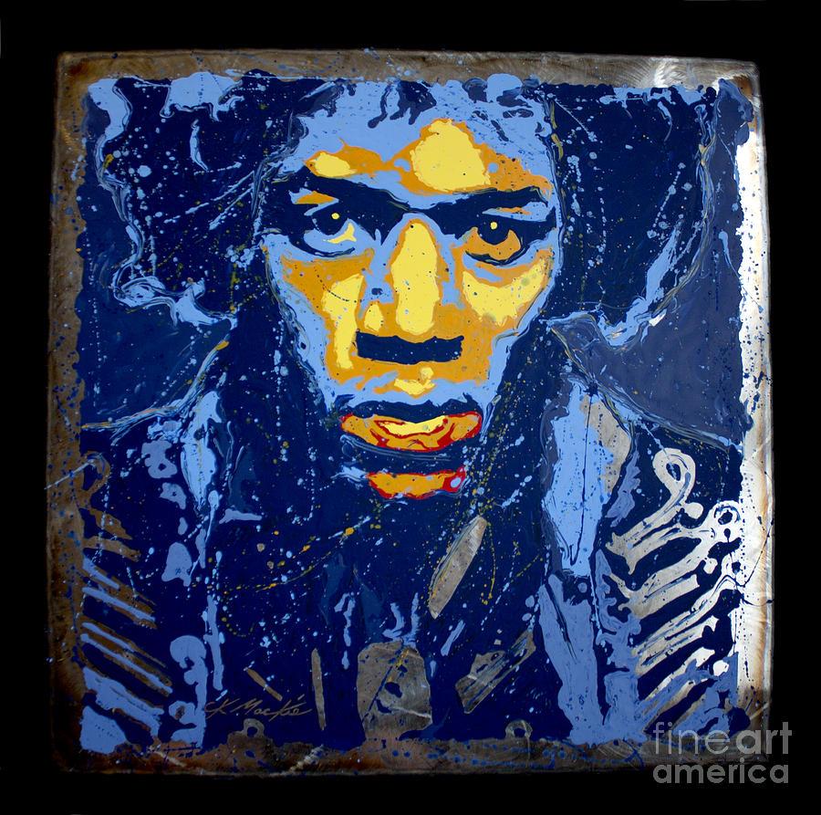 Jimi Hendrix Painting - Hendrix On Steel by Chris Mackie