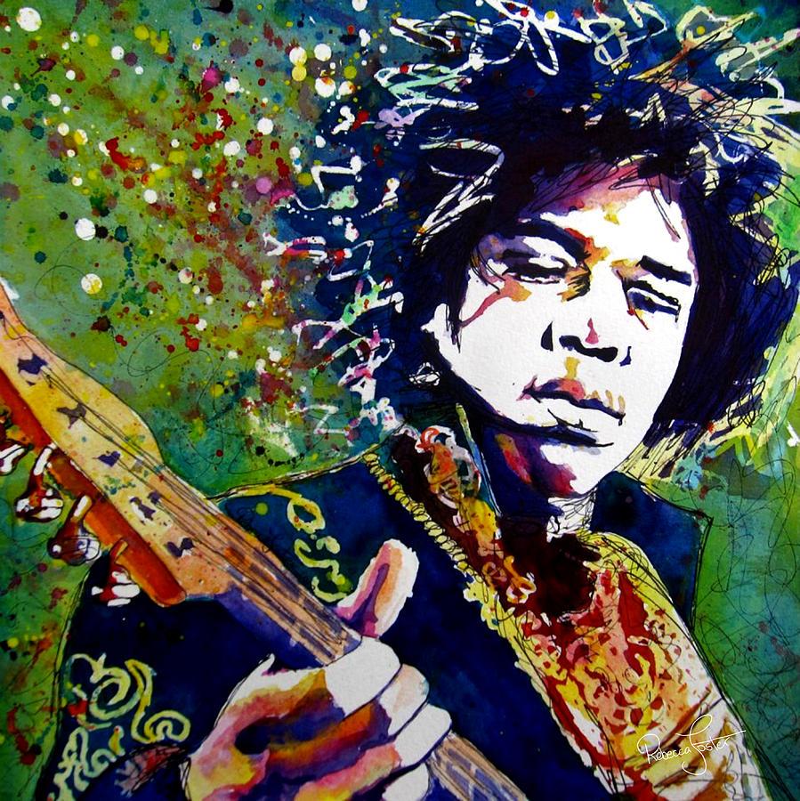 Jimi Hendrix Painting - Hendrix by Rebecca Foster