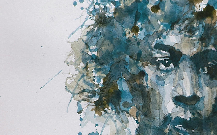 hendrix watercolor abstract painting by paul lovering