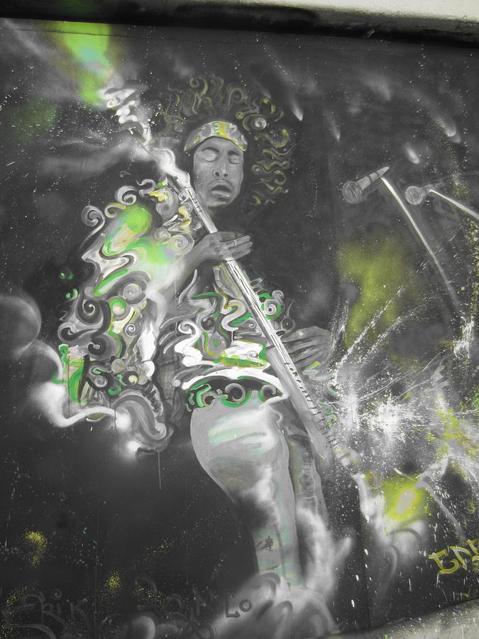 Jimi Hendrix Photograph - Hendrix X-ray #1 by Erik Franco