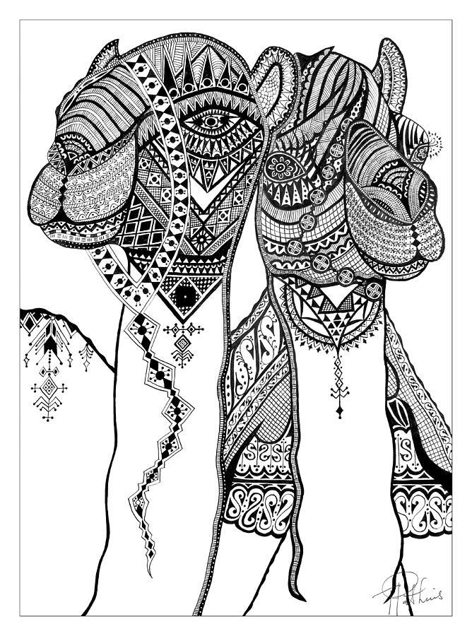 Henna Camels by Til Mikal