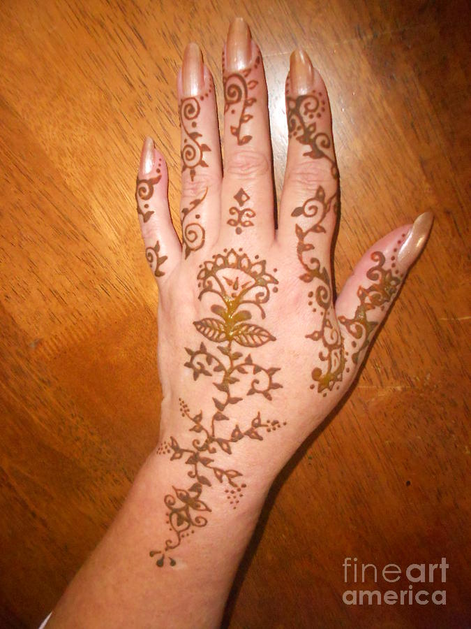 Henna Hand Drawing By Henna Tattoos Ogden Utah
