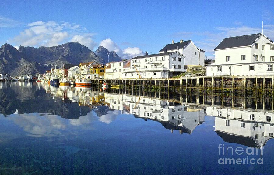 Heiko Photograph - Henningsvaer Harbour by Heiko Koehrer-Wagner