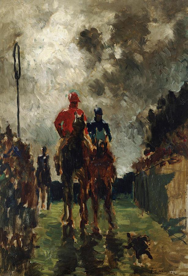 Jockey Painting - Henri De Toulouse Lautrec by The Jockeys
