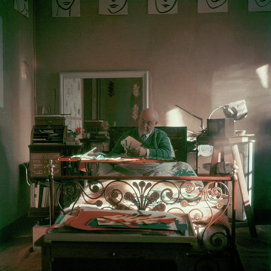 Henri Matisse In Bed Photograph by Clifford Coffin