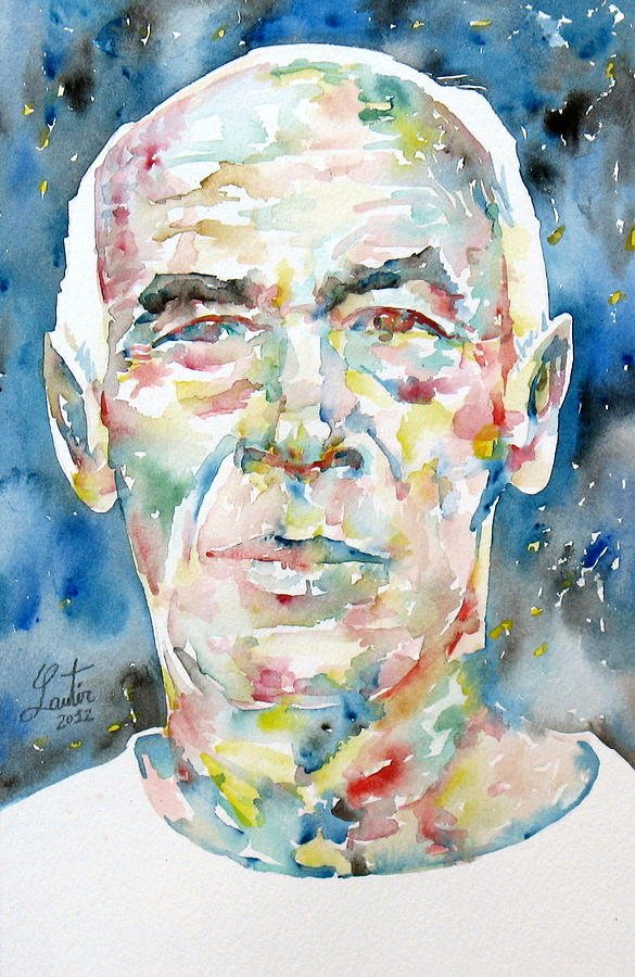 Henry Painting - Henry Miller Portrait.1 by Fabrizio Cassetta