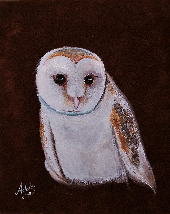 Owl Painting - Henry The Owl by Adele Moscaritolo