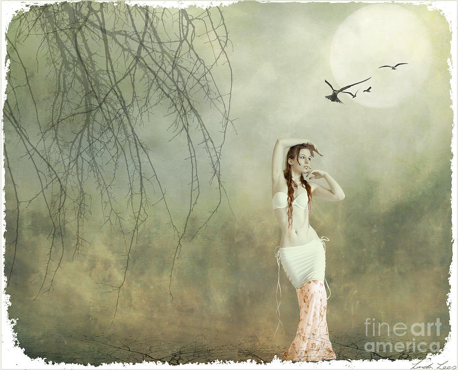 Willowy Digital Art - Her Cool Demeanor by Linda Lees