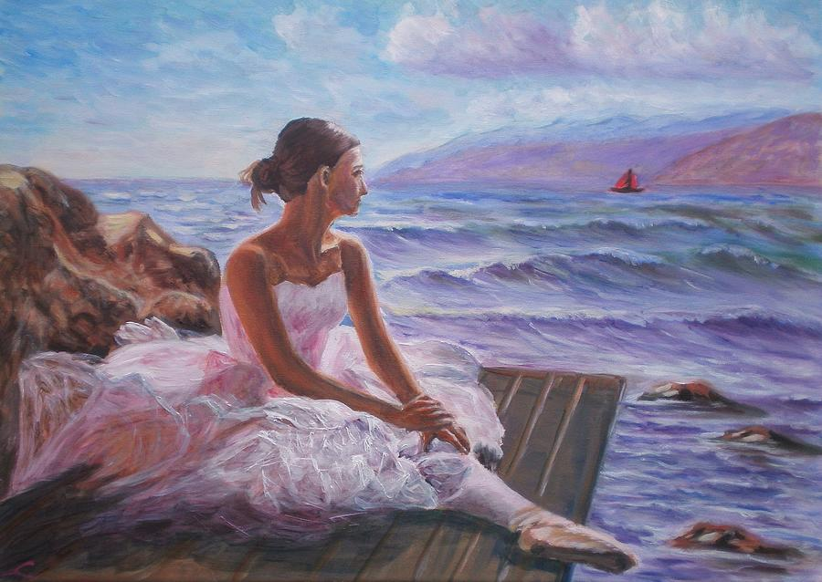 Her Dream Painting by Elena Sokolova