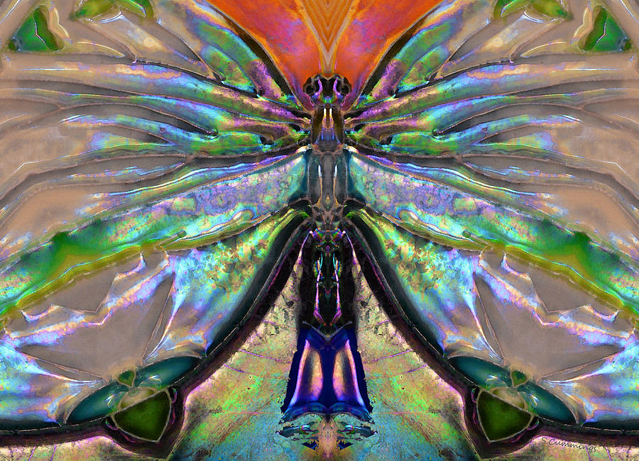 Spirit Painting - Her Heart Has Wings - Spiritual Art By Sharon Cummings by Sharon Cummings