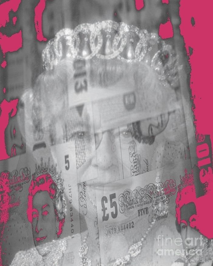 England Mixed Media - Her Majesty Queen Elisabeth by PainterArtist FIN