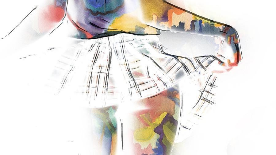 Her New Skirt Painting by Steve K