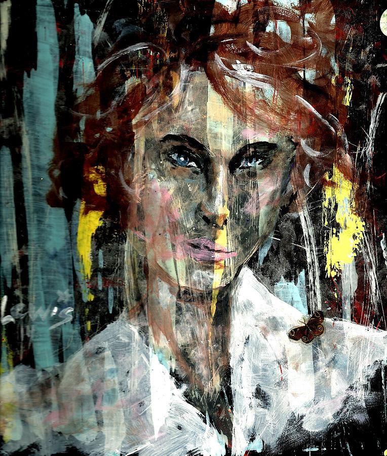 Mental Health Painting - Her Own Mind by P J Lewis