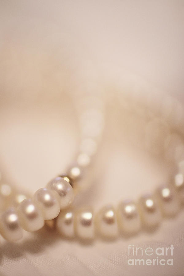 Bead Photograph - Her Pearls by Trish Mistric