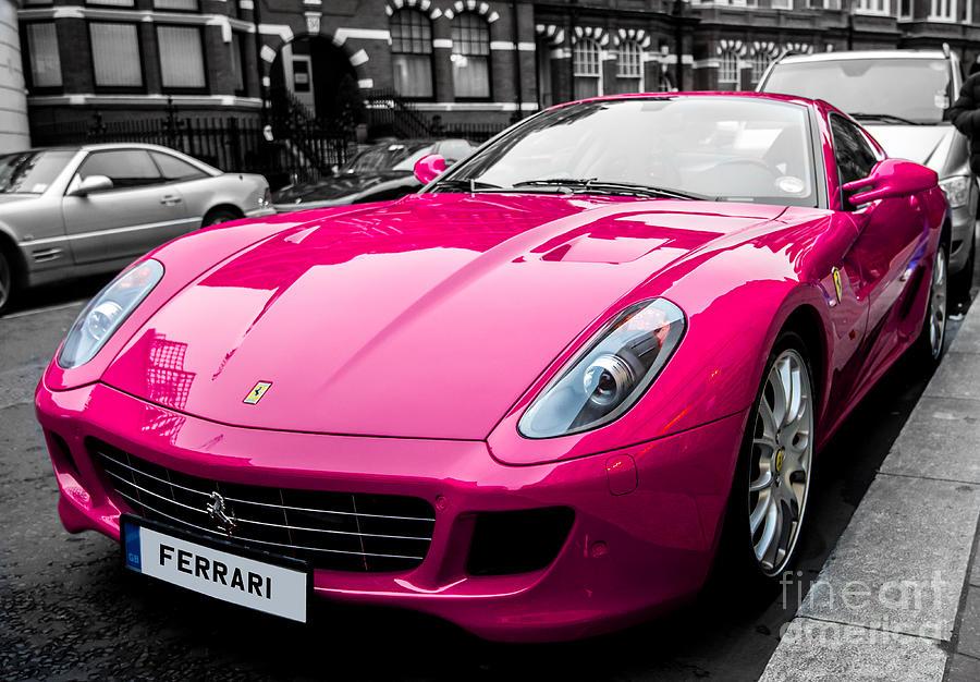Her Pink Ferrari Photograph By Matt Malloy