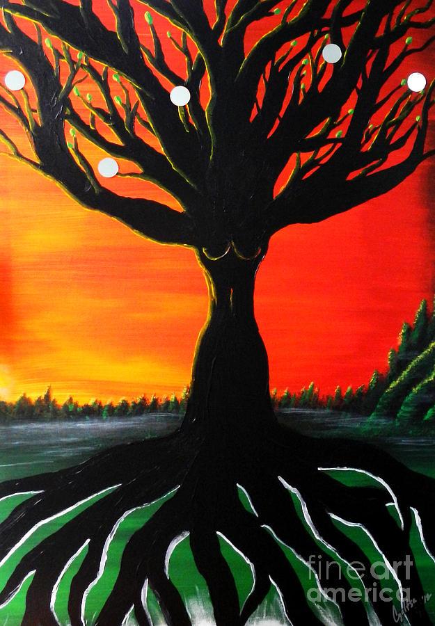 Beauty Painting - Her Roots Run Deep by A Cyaltsa Finkbonner
