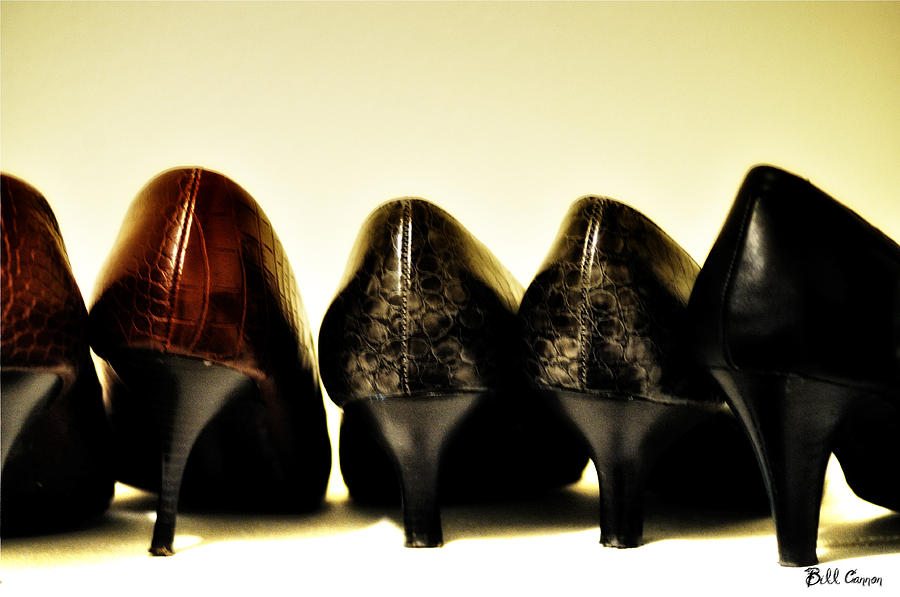 High Photograph - Her Shoes by Bill Cannon
