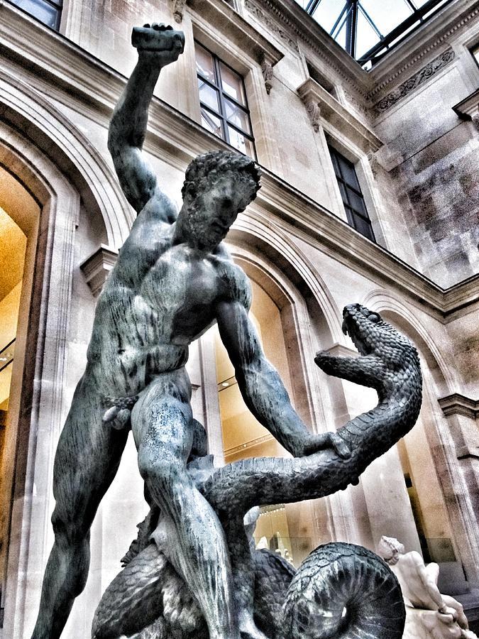 Heracles fighting Achelous - Louvre Museum Paris France ...
