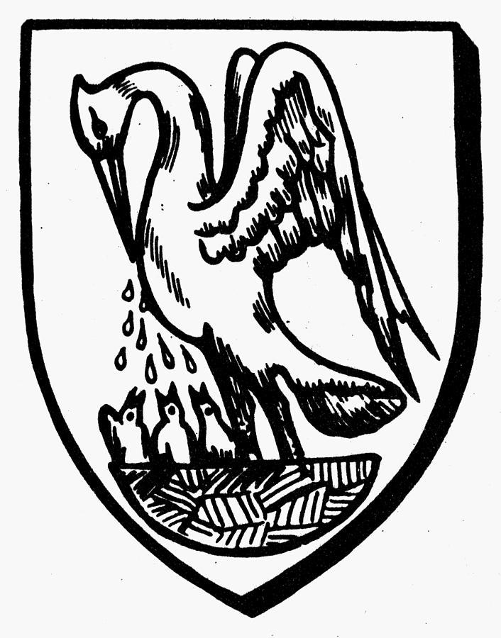 Baby Painting - Heraldry Pelican by Granger
