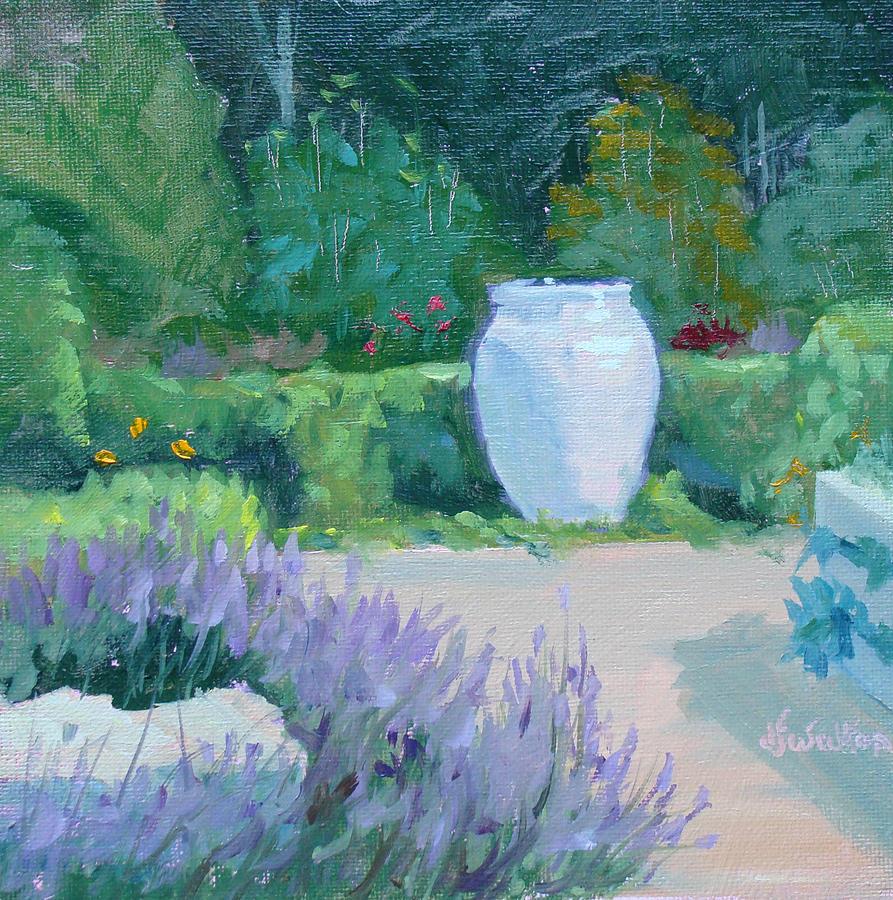 Garden Painting - Herb Garden With Lavender by Judy Fischer Walton