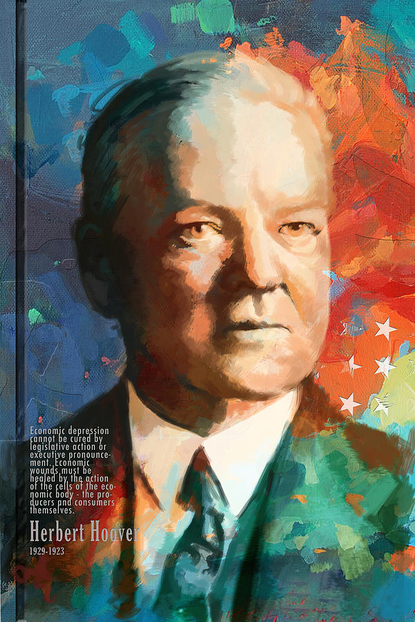 Herbert Hoover Painting By Corporate Art Task Force