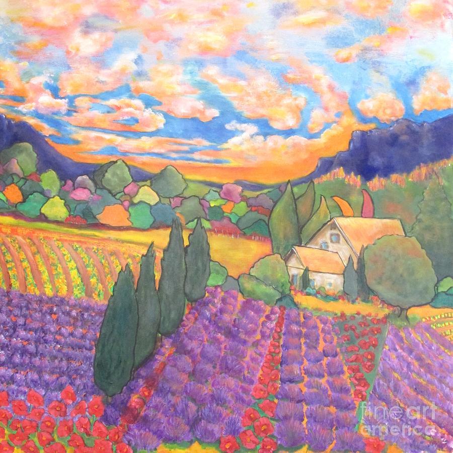 Landscape Painting - Herbes De Provence  by Chaline Ouellet