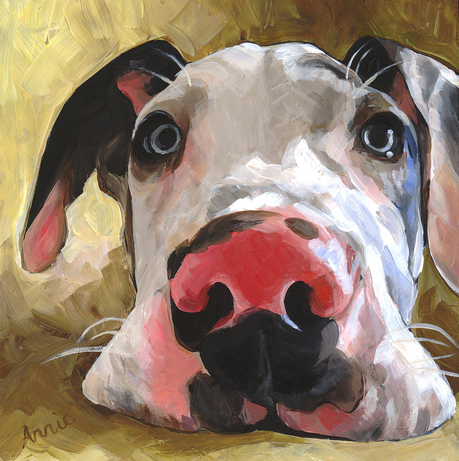 Puppy Painting - Herbie by Annie Salness