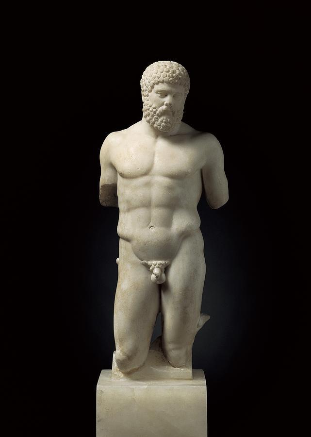 Vertical Photograph - Hercules. 5th C. Bc. Roman Copy. Greek by Everett
