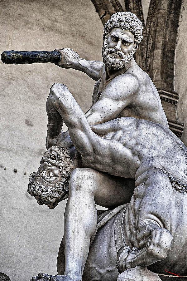 Hercules Photograph - Hercules Killing The Centaur by SM Shahrokni
