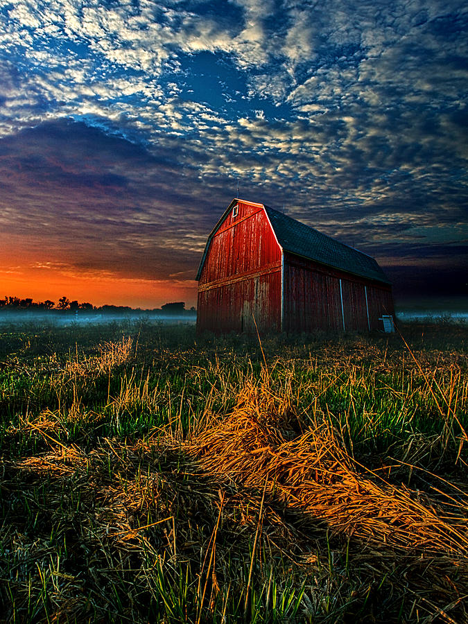 Farm Photograph - Here Comes The Light by Phil Koch