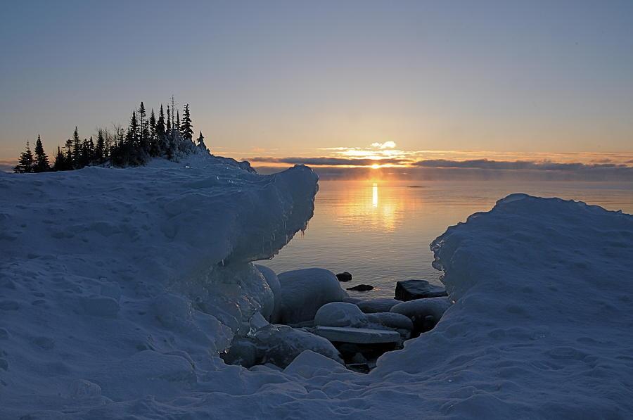 Sunrise Photograph - Here Comes The Sun by Sandra Updyke