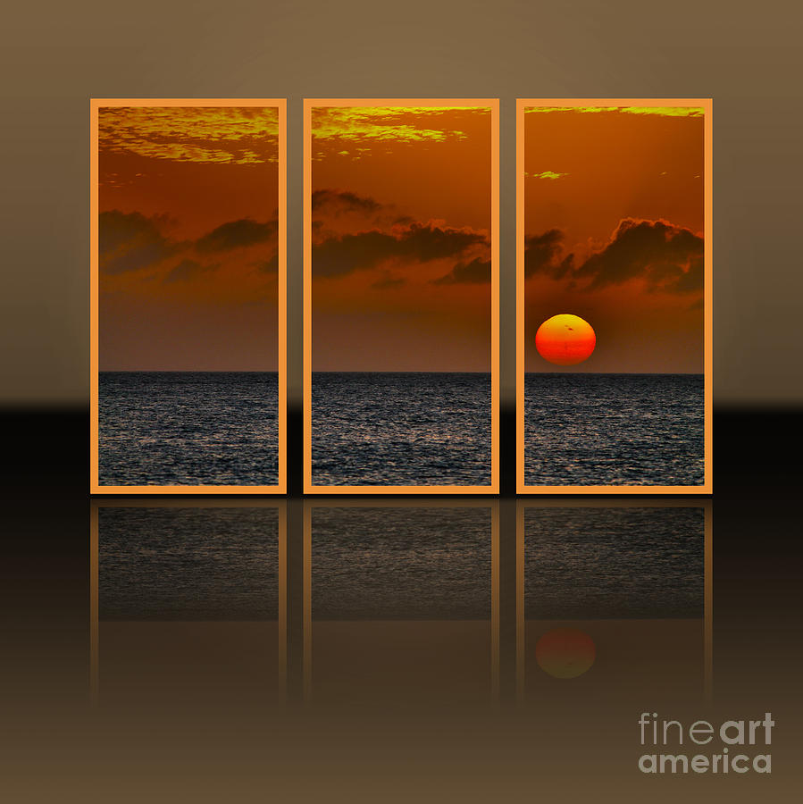 Here Goes The Sun - Triptych Photograph by Claudia M ...