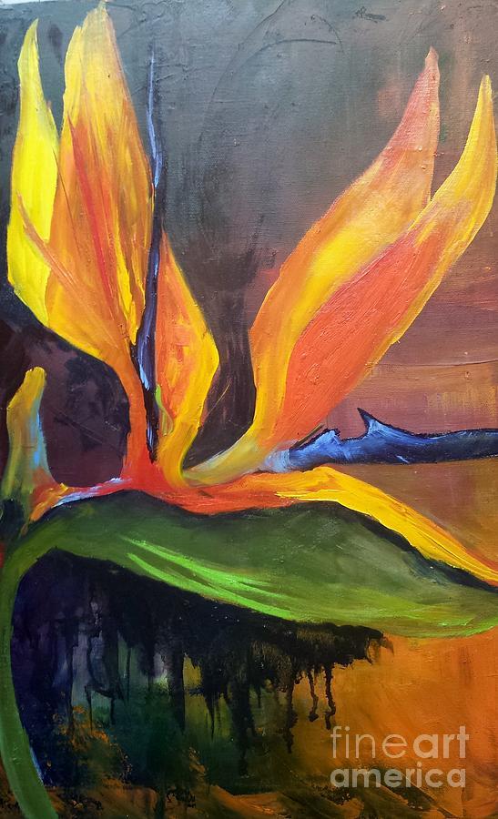 Bird Of Paradise Painting - Here I Am Bird of Paradise by Barbara Haviland