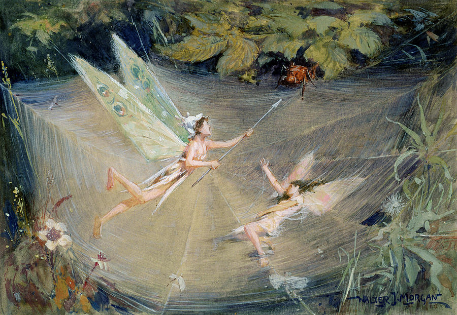 Fairy Drawing - Here I Am To Rescue by Walter Jenks Morgan