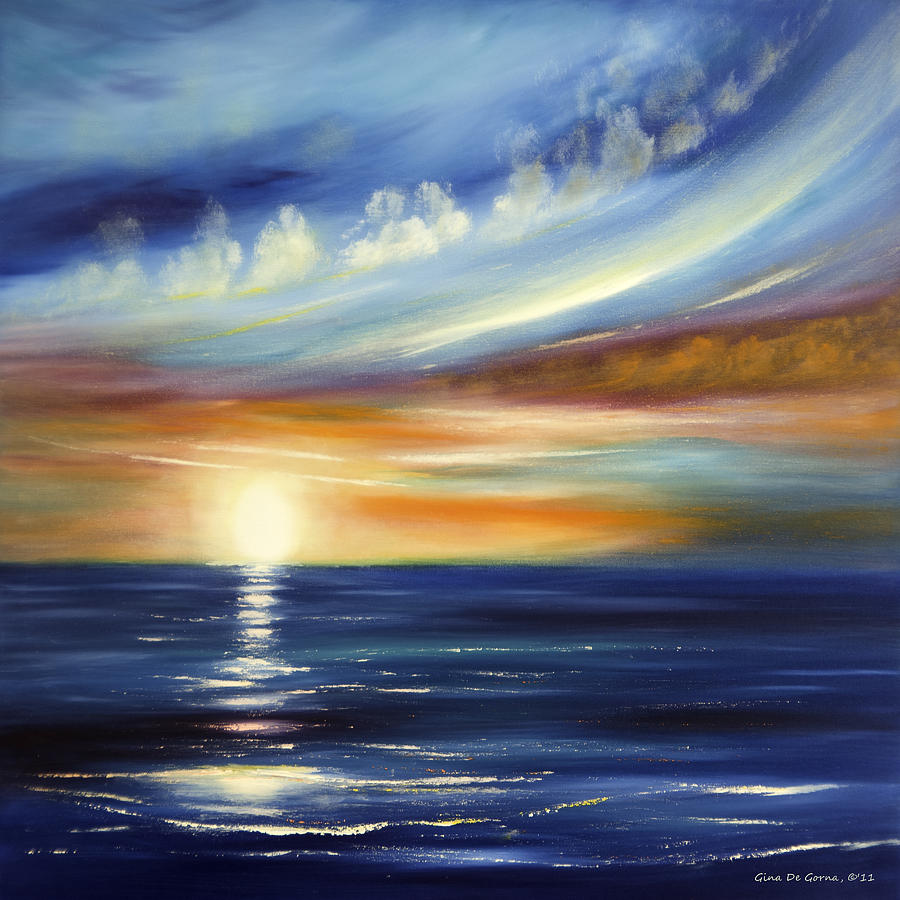 Sunset Painting - Here It Goes 2 by Gina De Gorna