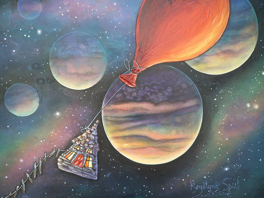 Balloon Painting - Here We Go Again by Krystyna Spink