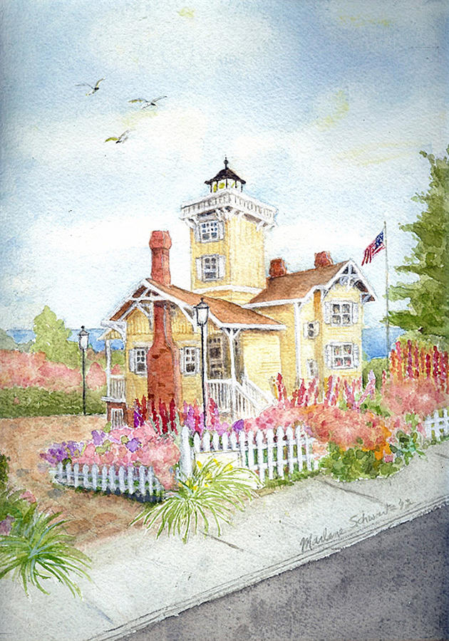 Hereford Inlet Lighthouse by Marlene Schwartz Massey