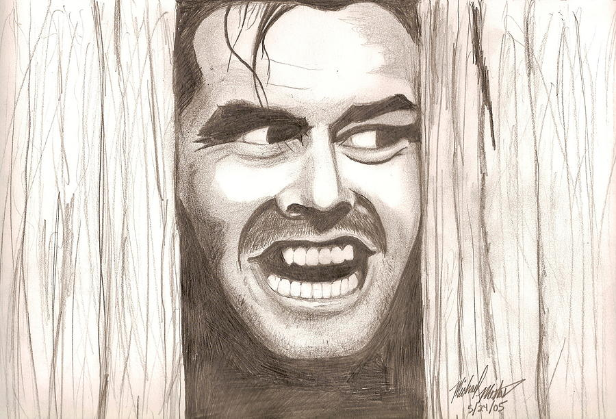 Johnny Drawing - Heres Johnny by Michael Mestas
