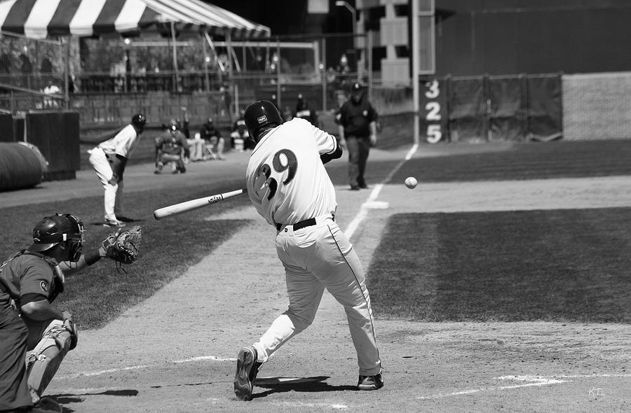 Baseball Photograph - Heres The Pitch by Karol Livote