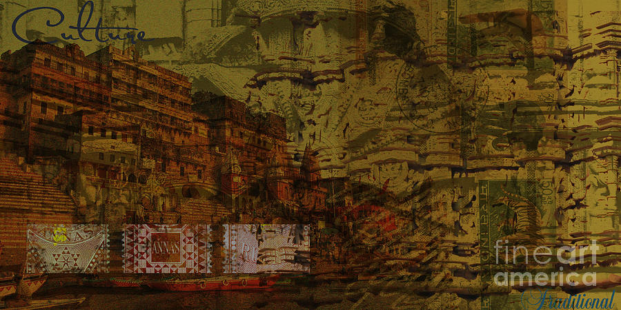 Heritage Cultural Traditional Painting Mix Media Digital Collage ...