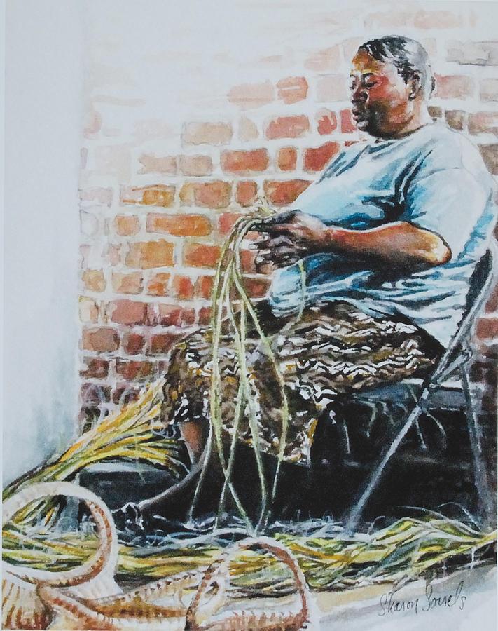 Basket Weaver Painting - Heritage by Sharon Sorrels